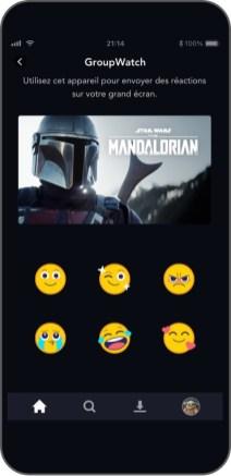 emoji réaction Disney+ GroupWatch