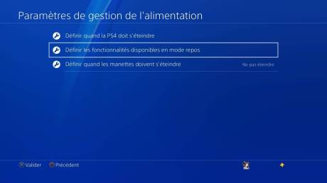 Playstation 4 PS4 stockage données gestion alimentation