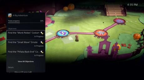 interface PlayStation 5 jeu Sackboy activités