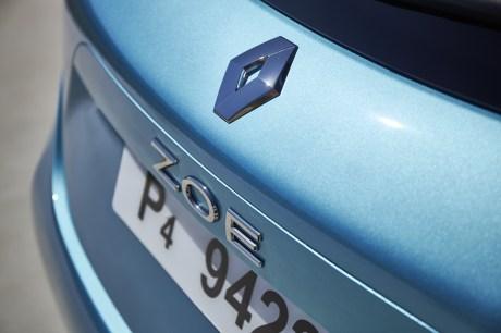 Le logo de la Renault Zoé // Source : Jean-Brice Lemal pour Renault France
