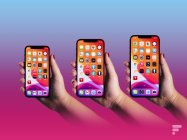 Apple iPhone 12 Mini, iPhone 12 et iPhone 12 Pro Max // Source : Arnaud Gelineau pour Frandroid