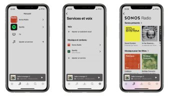 L'application de Sonos permet de diffuser n'importe quel contenu audio sur tout ou partie des enceintes Sonos de son logement.