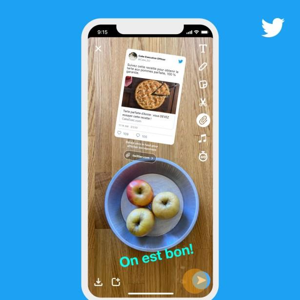 Les outils de Snapchat sont utilisables avec un tweet