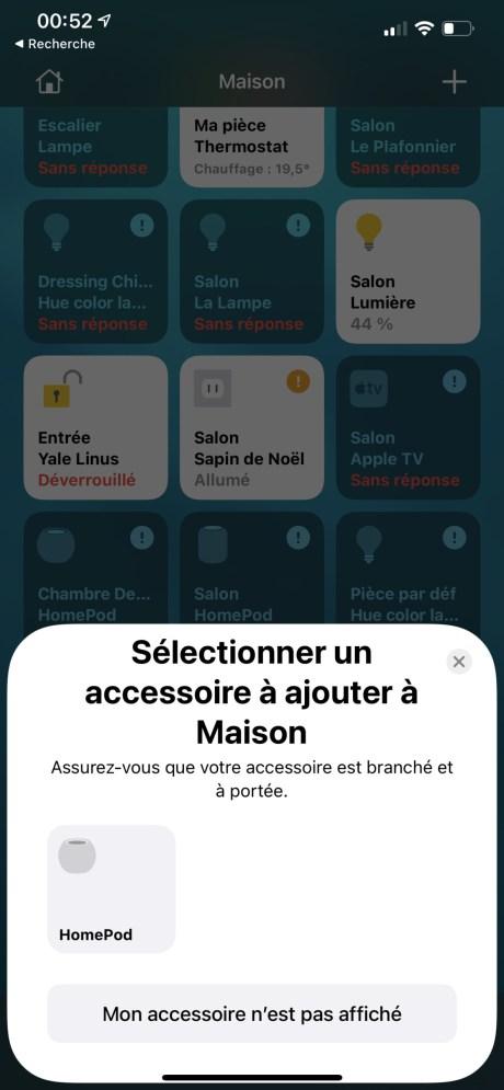 Apple HomePod mini configuration app Maison