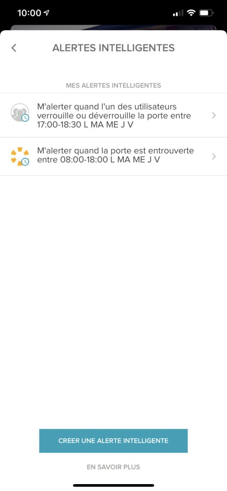 Yale Access app serrure connectée notification alerte