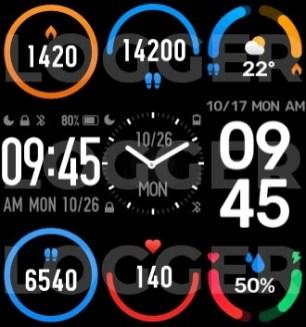 interface cadran Mi Band 6