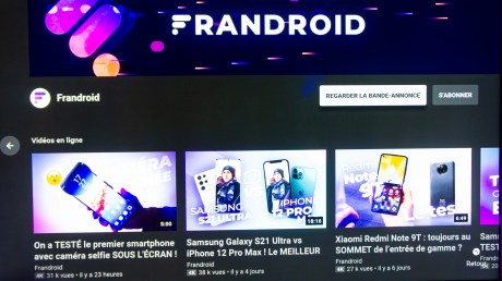 Frandroid sur YouTube
