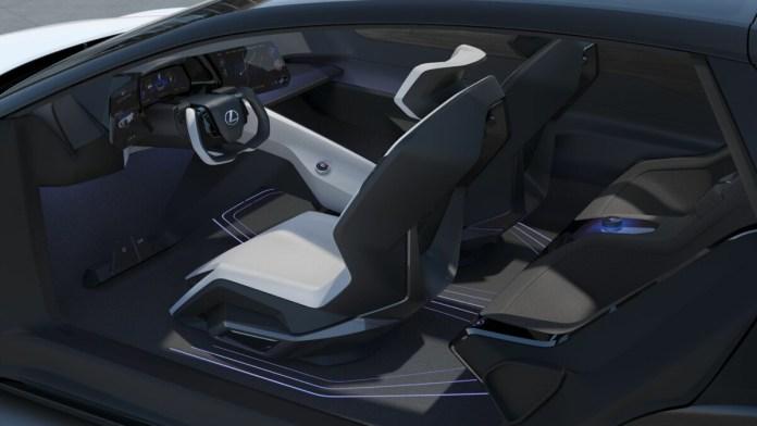 The interior of the Lexus LF-Z concept car