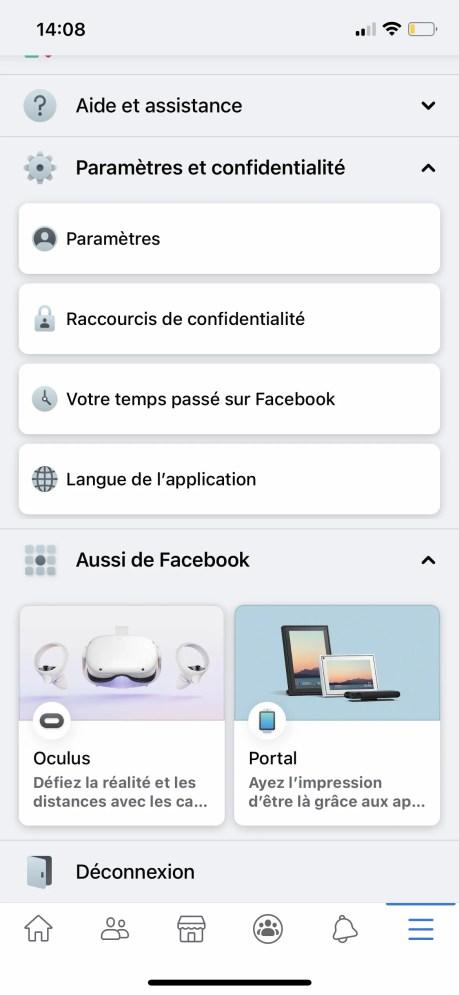 Comment changer son nom sur Facebook de son appli smartphone 02