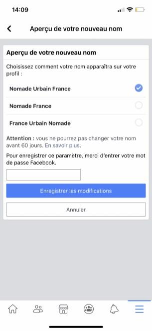 Comment changer son nom sur Facebook de son appli smartphone 07