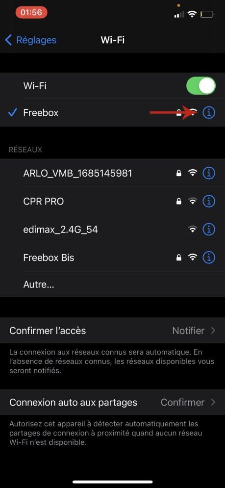 Comment connaitre son adresse IP sur iOS 02