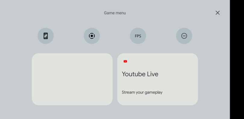 Le Game Dashboard d'Android 12