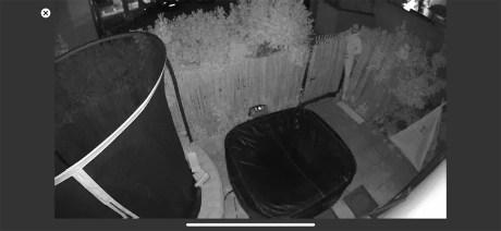 Simulation intrusion en extérieur avec vision de nuit // Source : Frandroid / Yazid Amer