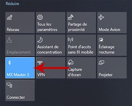 Comment activer et désactiver le Bluetooth sous Windows 10 02