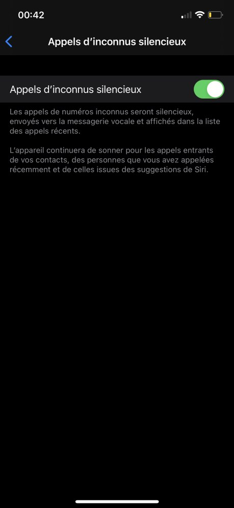 Comment mettre en sileniceux les numéros inconnus ou privés sur iPhone 06