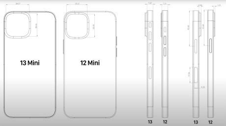 Les dimensions de l'iPhone 13 mini