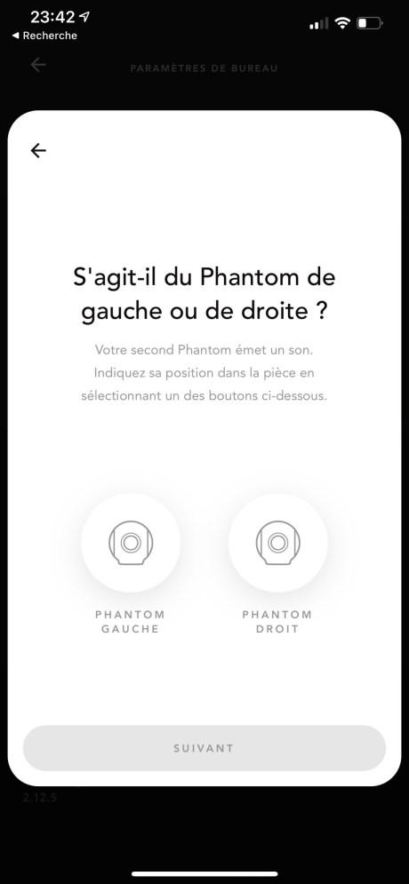 Configuration en stéréo des enceintes Phantom I de Devialet