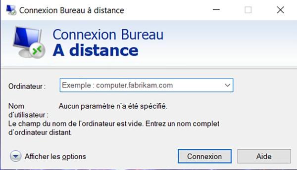 Prise de contrôle à distance d'un PC sous Windows 10 02