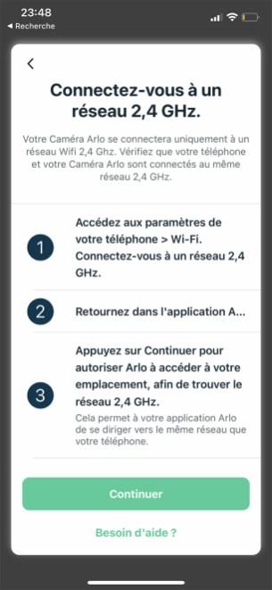 Le choix du réseau dans l'app // Source : Frandroid / Yazid Amer
