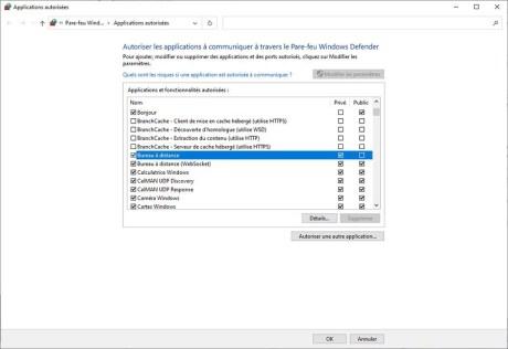 Autoriser le contrôle à distance via Internet sur le PC cible 05