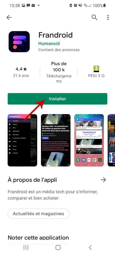Comment télécharger une appli à partir du Google Play Store et sans le Play Store 6-01