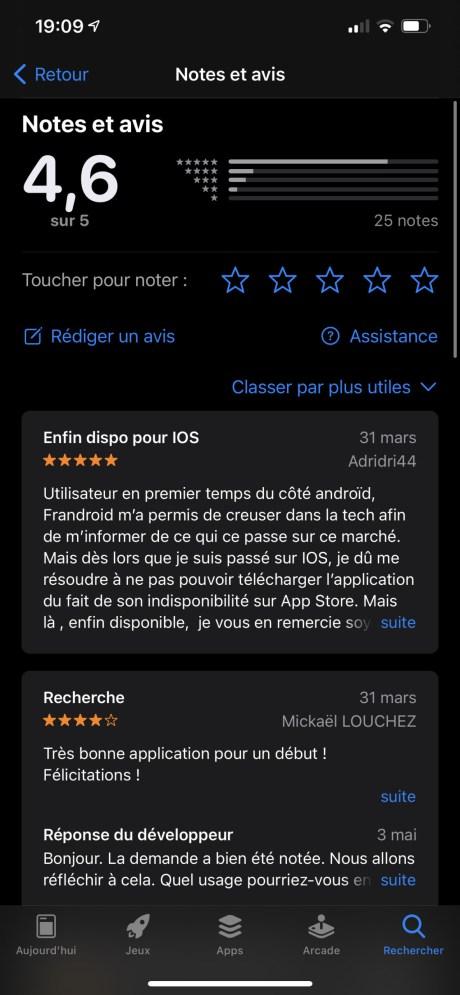 Les notes et avis sur l'App Store sont passés au crible // Source : Apple