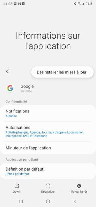 Bug Google Samsung