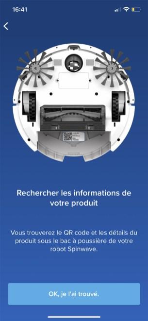 Le QR Code caché par le bac à poussière est essentiel pour valider l'installation // Source : Frandroid / Yazid Amer