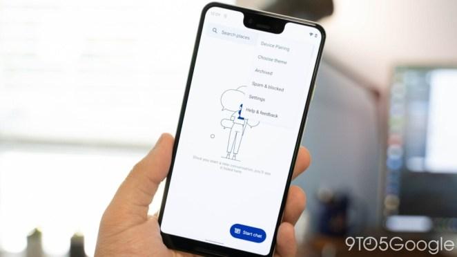 Aperçu de l'interface Google Messages avec Material You