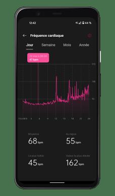 OnePlus Health - Suivi de la fréquence cardiaque