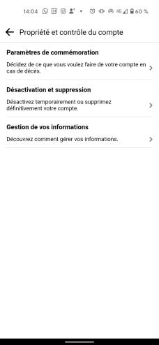 Supprimer compte Facebook smartphone app 3
