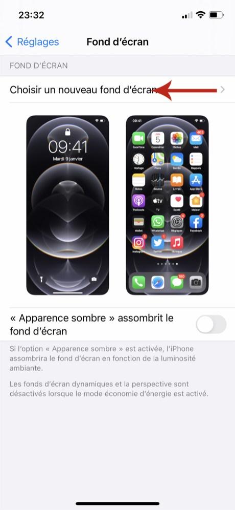 Comment changer son fond d'écran sur iPhone 03