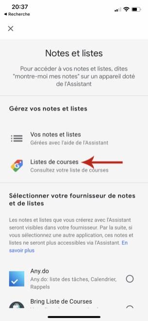 Comment gérer et accéder sa liste de course sur Google Home 03