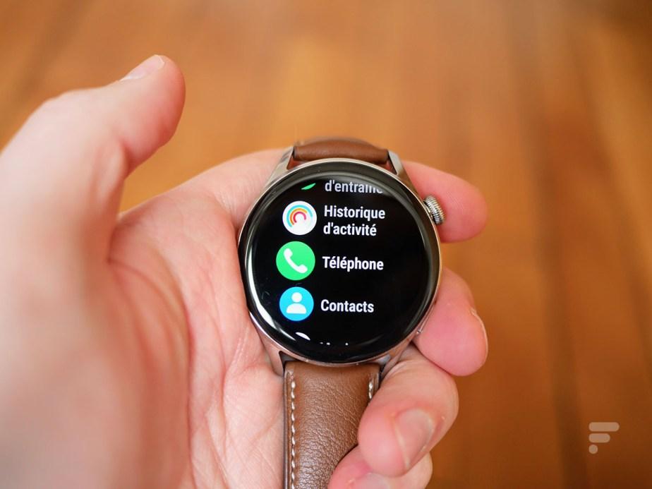 La montre connectée Huawei Watch 3 // Source : Frandroid