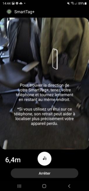 Au lancement de la vue AR, SmartThings vous demande de tourner votre téléphone pour l'aider à se repérer.