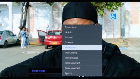 5 modes d'images pensés pour un rendu cinéma.