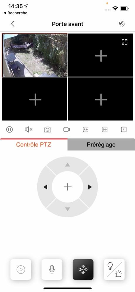 Si vous avez plusieurs caméra, il est possible d'en afficher jusqu'à 16 simultanément // Source : Frandroid - Yazid Amer