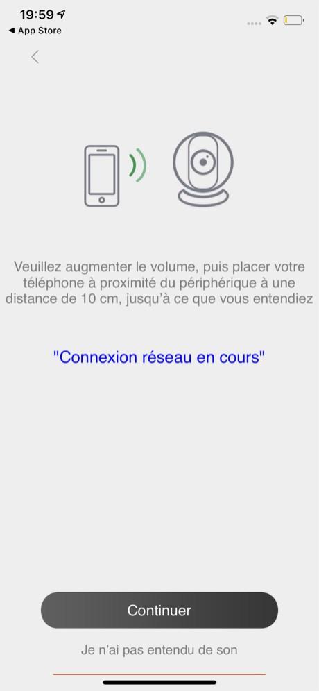 Un test sonore termine de certifier la connexion de la caméra à votre réseau Wi-Fi // Source : Frandroid - Yazid Amer