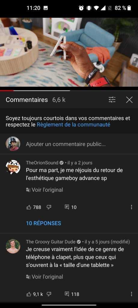 La traduction des commentaires sur YouTube