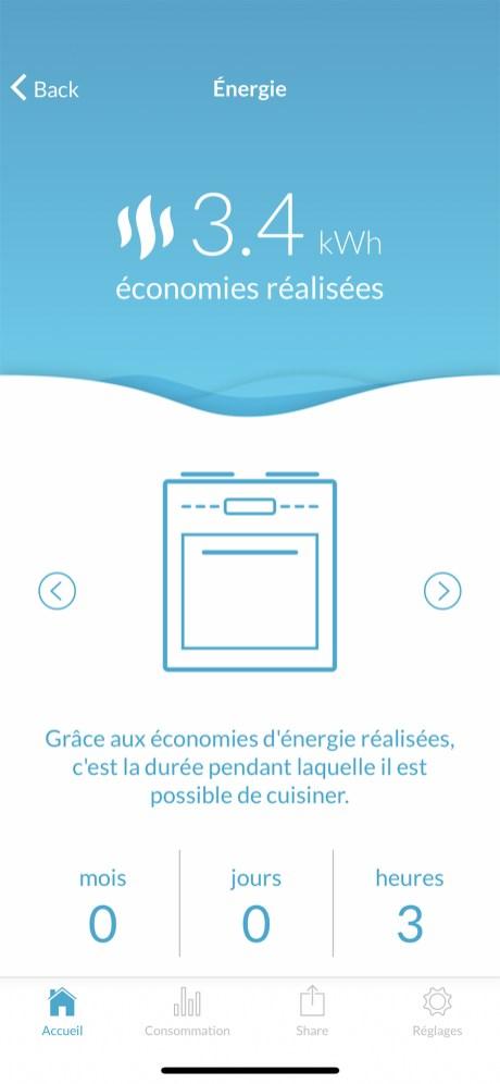 L'app nous donne des équivalences pour vos économies énergétiques // Source : Frandroid - Yazid Amer