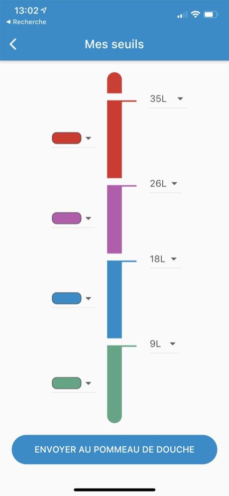 Vous pouvez personnaliser les seuils dde changements dde couleurs du pommeau // Source : Frandroid - Yazid Amer