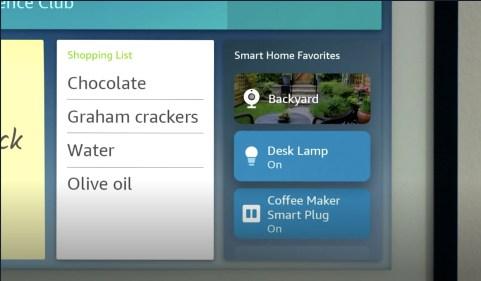 Les objets connectés de la maison sont facilement accessibles depuis l'Echo Show 15 // Source : Amazon