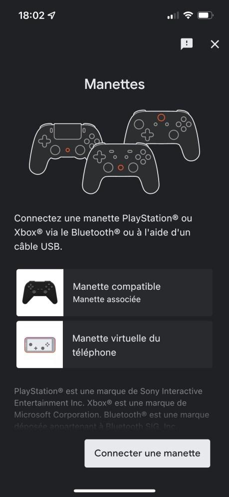 Choisissez comment vous voulez jouer à Stadia depuis votre smartphone // Source : FRANDROID
