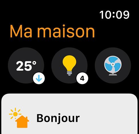 watchOS 8 a repensé l'app Maison // Source : Apple