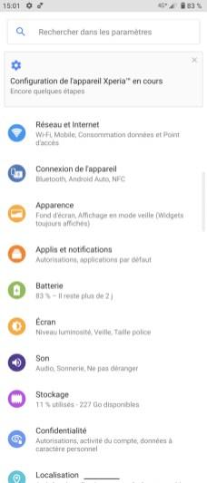 L'interface est très proche d'Android stock