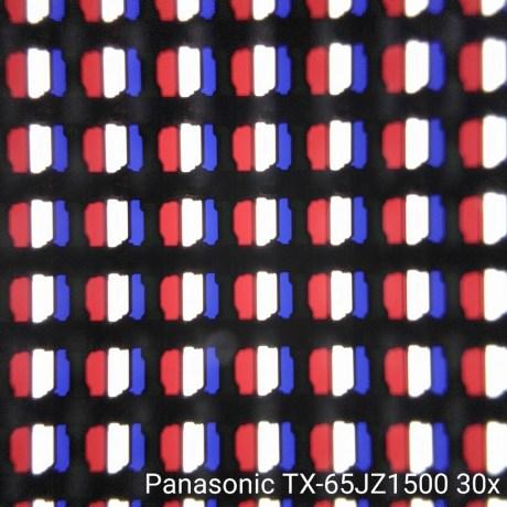 La dalle au microscope 30x.