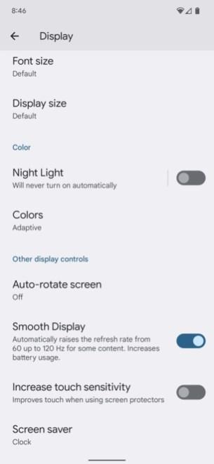 Pixel-6-Pro-display-settings