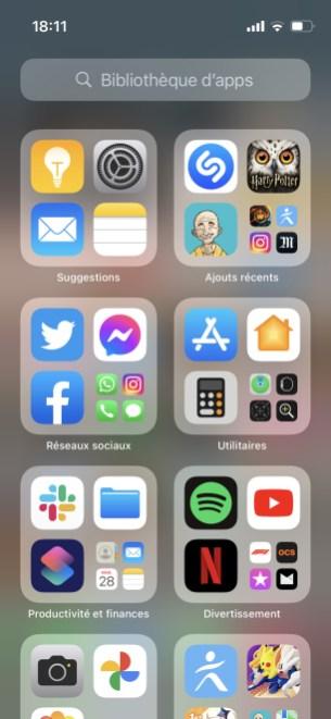 Rangement iOS