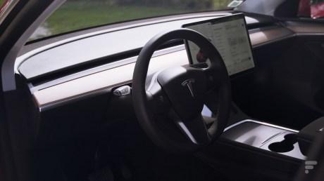 L'intérieur de la Tesla Model Y // Source : Frandroid