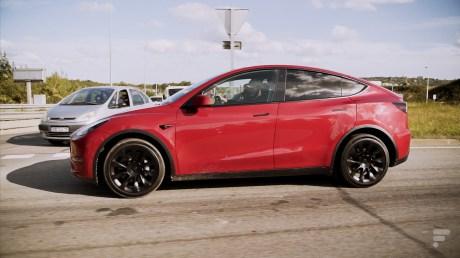 La Tesla Model Y vue de côté // Source : Frandroid